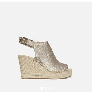 KENNETH COLE Olivia leather espadrille wedges
